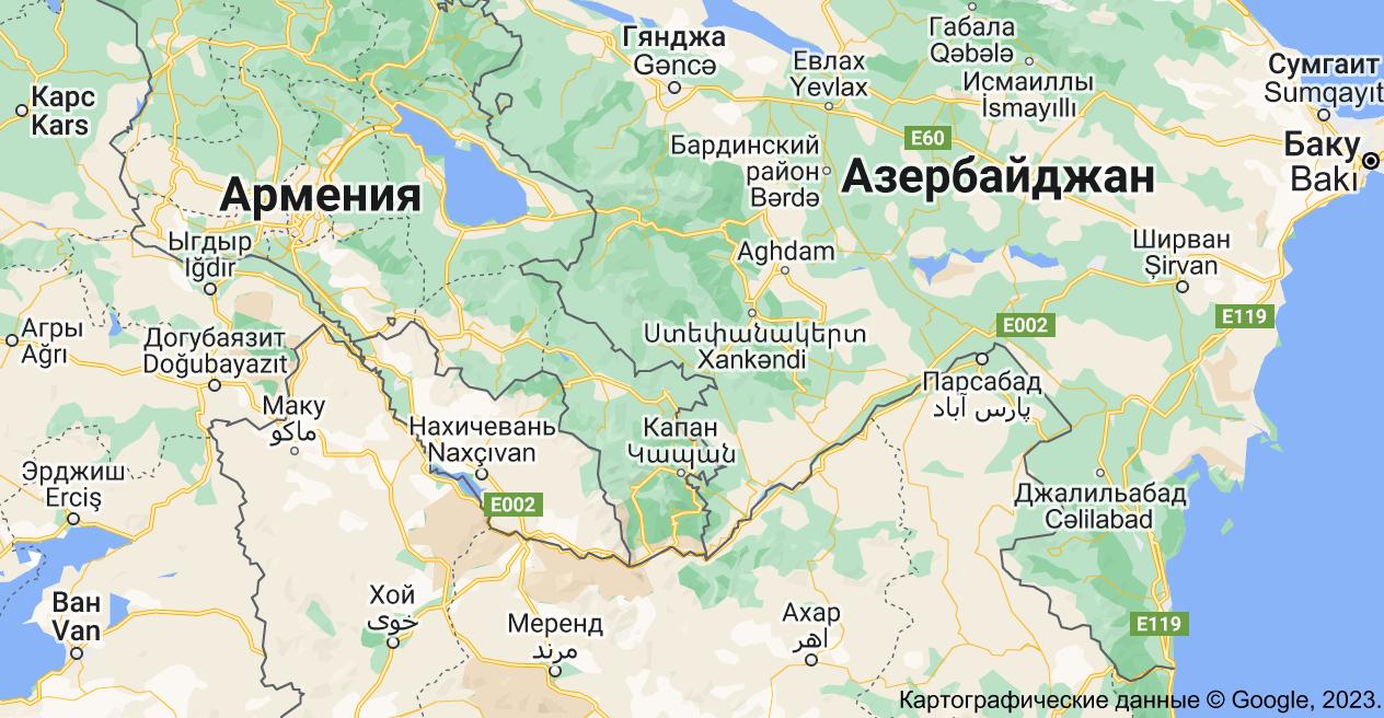 Нагорный Карабах: карта